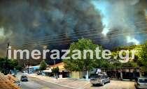 Φωτιά στη Ζάκυνθο: Στις φλόγες σπίτια και καταστήματα.